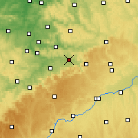Nearby Forecast Locations - Göppingen - Map
