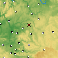 Nearby Forecast Locations - Künzelsau - Map