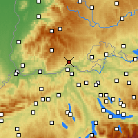 Nearby Forecast Locations - Waldshut-Tiengen - Map