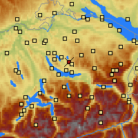 Nearby Forecast Locations - Wetzikon - Map