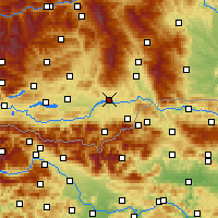 Nearby Forecast Locations - Völkermarkt - Map