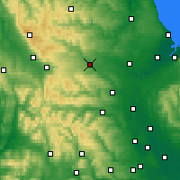Nearby Forecast Locations - Barnard Castle - Map