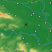 Nearby Forecast Locations - Đakovo - Map