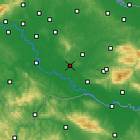 Nearby Forecast Locations - Kutina - Map