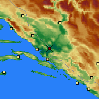 Nearby Forecast Locations - Metković - Map