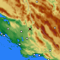 Nearby Forecast Locations - Knin - Map