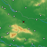 Nearby Forecast Locations - Slatina - Map