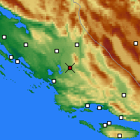 Nearby Forecast Locations - Drniš - Map