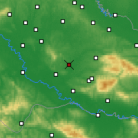 Nearby Forecast Locations - Garešnica - Map
