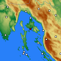 Nearby Forecast Locations - Krk - Map