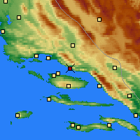 Nearby Forecast Locations - Omiš - Map