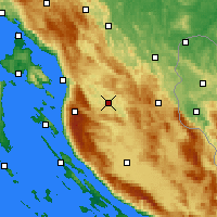 Nearby Forecast Locations - Otočac - Map