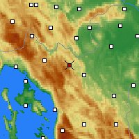 Nearby Forecast Locations - Vrbovsko - Map