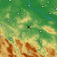 Nearby Forecast Locations - Dvor - Map