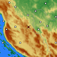 Nearby Forecast Locations - Plitvička Jezera - Map