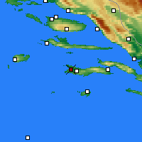 Nearby Forecast Locations - Vela Luka - Map