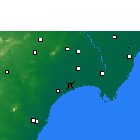 Nearby Forecast Locations - Bapatla - Map