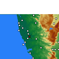 Nearby Forecast Locations - Chengannur - Map