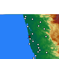 Nearby Forecast Locations - Cherthala - Map