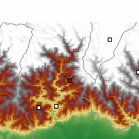 Nearby Forecast Locations - Gangtok - Map