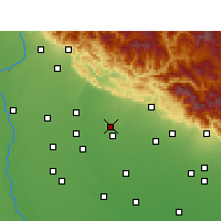 Nearby Forecast Locations - Jaspur - Map