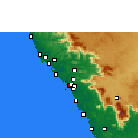 Nearby Forecast Locations - Kadirur - Map