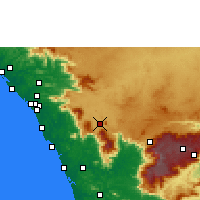 Nearby Forecast Locations - Kalpetta - Map