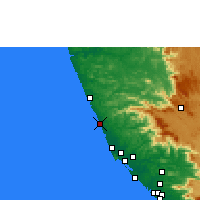 Nearby Forecast Locations - Kanhangad - Map
