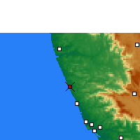 Nearby Forecast Locations - Kasaragod - Map