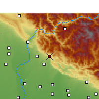 Nearby Forecast Locations - Kotdwar - Map