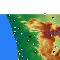 Nearby Forecast Locations - Kothamangalam - Map