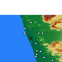 Nearby Forecast Locations - Kunnamkulam - Map