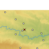 Nearby Forecast Locations - Manwath - Map