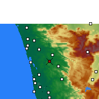 Nearby Forecast Locations - Muvattupuzha - Map