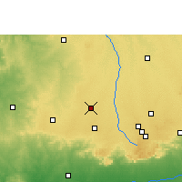 Nearby Forecast Locations - Nagda - Map