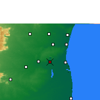 Nearby Forecast Locations - Neyveli - Map