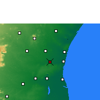 Nearby Forecast Locations - Panruti - Map