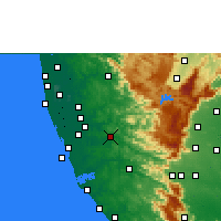Nearby Forecast Locations - Pathanamthitta - Map