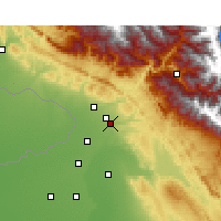Nearby Forecast Locations - Pathankot - Map