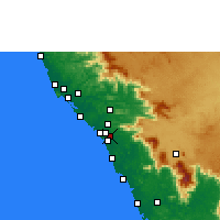 Nearby Forecast Locations - Peringathur - Map