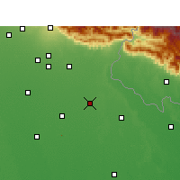 Nearby Forecast Locations - Pilibhit - Map
