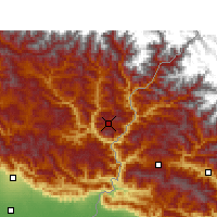 Nearby Forecast Locations - Pithoragarh - Map