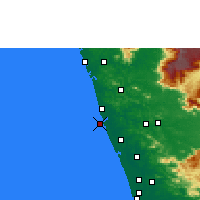 Nearby Forecast Locations - Ponnani - Map