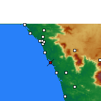 Nearby Forecast Locations - Koyilandy - Map