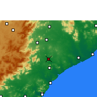 Nearby Forecast Locations - Rajam - Map