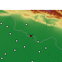 Nearby Forecast Locations - Raxaul - Map