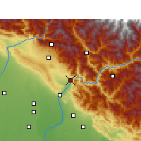 Nearby Forecast Locations - Rishikesh - Map