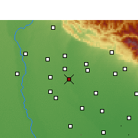 Nearby Forecast Locations - Sahaspur - Map