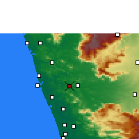 Nearby Forecast Locations - Shoranur - Map