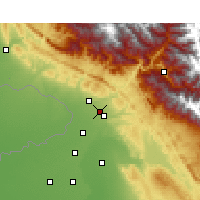 Nearby Forecast Locations - Sujanpur - Map